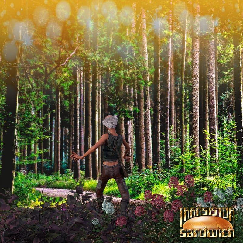 happy man strolling through the glades