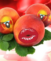 Pair of Eyes on a Peach